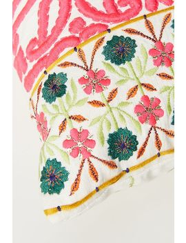 Embroidered Lizzie Pillow by Anthropologie