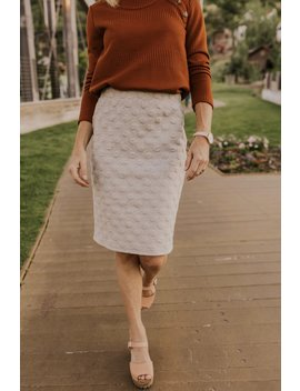 Korie Textured Skirt by Roolee