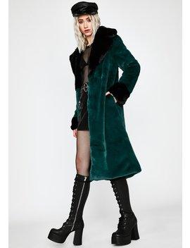Precious Secret Faux Fur Coat by Dolls Kill