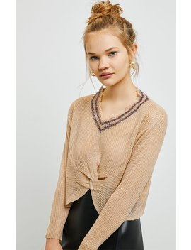 Raga Tiana Twist Front Sweater by Pacsun