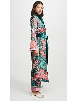 Long Robe With Velvet Trim by F.R.S For Restless Sleepers