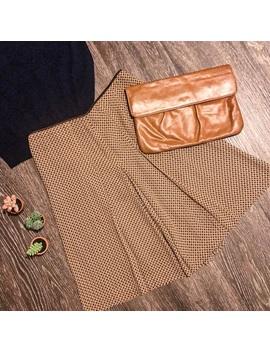 Vintage Nine West | 4 | Brown Houndstooth Skirt by Vintage