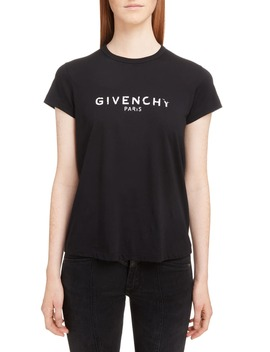 Distressed Logo Tee by Givenchy