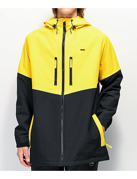 Empyre Far East Black & Yellow 10 K Snowboard Jacket by Empyre