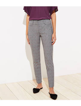 Plaid Skinny Ankle Pants by Loft