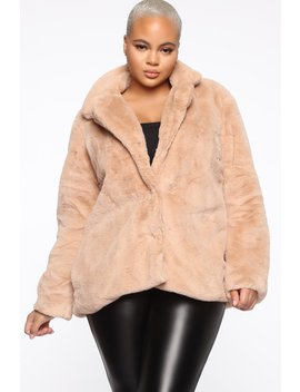 Highly Classified Queen Jacket   Taupe by Fashion Nova