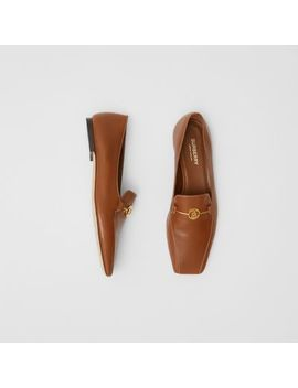 Monogram Motif Two Tone Leather Loafers by Burberry