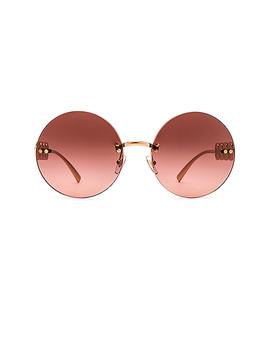 Medusa Round Sunglasses by Versace