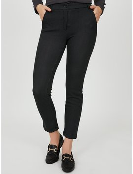 One Button Closure Skinny Leg Pants by Suzy Shier