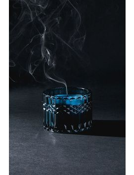 Blue Glass Candle Holder by Urban Outfitters