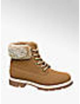 Ladies Lace Up Fur Boots by Vty