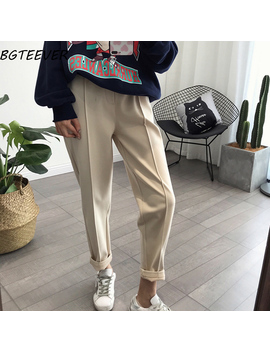Bgteever Winter Thicken Women Pencil Pants Plus Size Wool Pants Female 2019 Autumn High Waist Loose Trousers Capris Good Fabric by Ali Express.Com