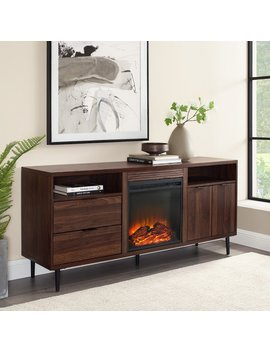 Eglinton Tv Stand For T Vs Up To 65 Inches With Electric Fireplace Included by Wrought Studio