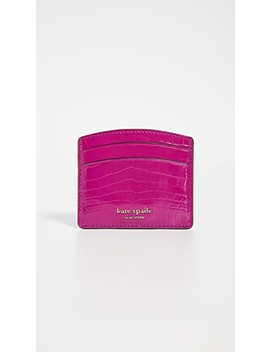 Sylvia Croc Embossed Card Holder by Kate Spade New York