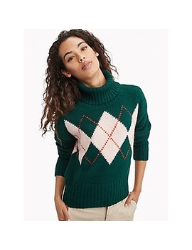 Essential Argyle Turtleneck Sweater by Tommy Hilfiger