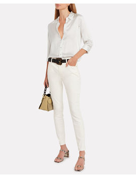 Dani Silk Button Front Blouse by L'agence