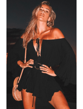 Summer Dreams Romper Black by White Fox