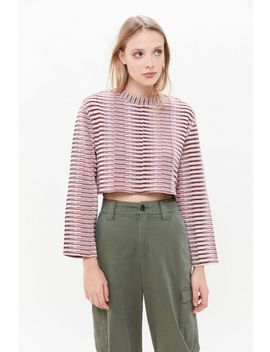 Uo Cosette Boxy Jacquard Top by Urban Outfitters