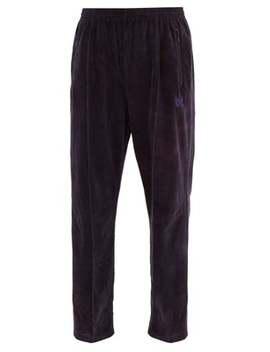 Pintucked Cotton Blend Velvet Track Pants by Needles