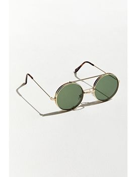 Flip Up Round Sunglasses by Urban Outfitters