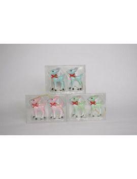 Target Wondershop Retro Mini Glitter Deer 3 Packs Christmas Tree Ornaments by Wondershop