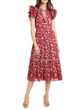 Linnea Floral Midi Dress by Ulla Johnson