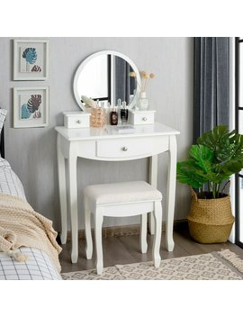 Sojitra Vanity Set With Stool And Mirror by Charlton Home