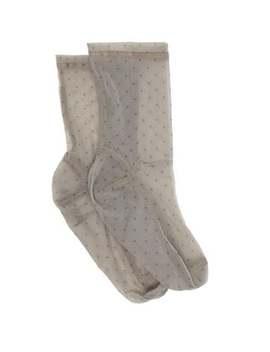 Polka Dot Mesh Ankle Socks by Darner Socks