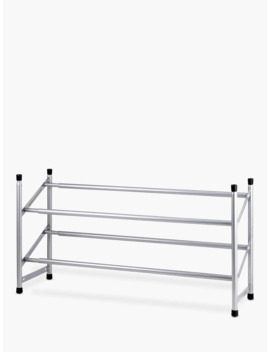 John Lewis & Partners 2 Tier Expandable Shoe Rack, Chrome by John Lewis & Partners