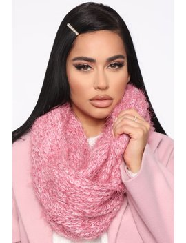 In The Loop Scarf   Pink by Fashion Nova