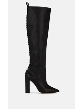 Whipstitched Leather Knee Boots by Ulla Johnson