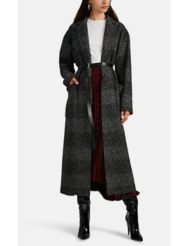 Plaid Wool Blend Belted Coat by Barneys New York