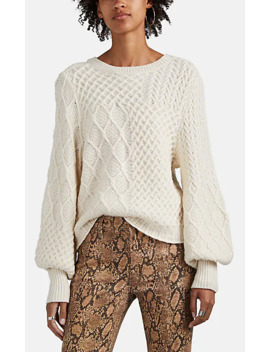 Cable Knit Wool Blend Sweater by Frame