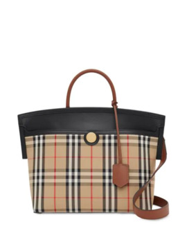 Small Society Vintage Check Top Handle by Burberry