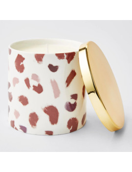 Printed Candle With Lid   Salted Caramel by Target
