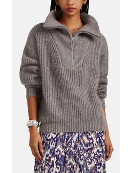 Myclan Rib Knit Wool Half Zip Sweater by Isabel Marant Étoile