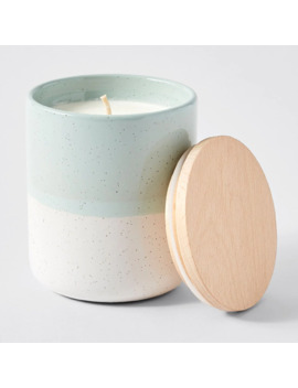 Dipped Speckle Glaze Candle   Neroli Lime & Basil by Target