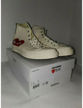 Converse X Comme Des Garcons Play Chuck Taylor High Black Shoes Mens 11 Womens13 by Converse