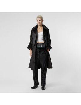 Waistcoat Detail Faux Fur Coat by Burberry