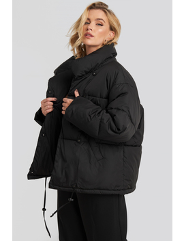 Padded Oversized Jacket Black by Na Kd Trend