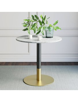 Belynda White Faux Marble Table Top Dining Table by Brayden Studio