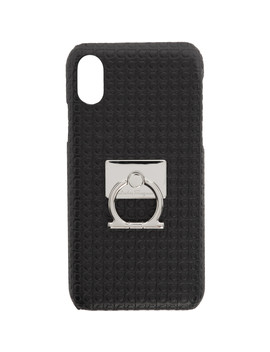 Black Mini Gianco I Phone X Case by Salvatore Ferragamo