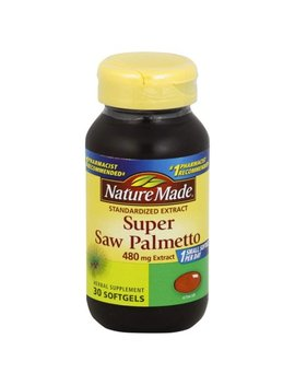 Nature Made Super Saw Palmetto, Standardized Extract, 480 Mg, Softgels, 30.0 Ct by Nature Made