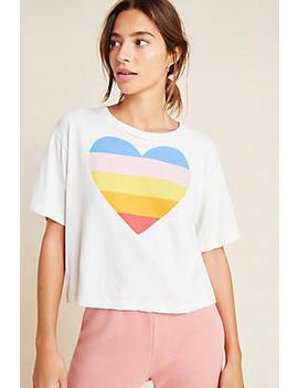 Sundry Rainbow Heart Graphic Tee by Sundry