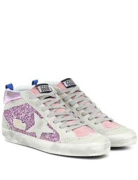 Mid Star Embellished Sneakers by Golden Goose