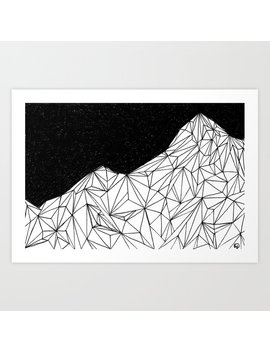 Mountain Constellation Art Print by Society6