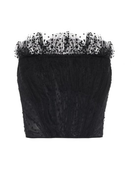 Embroidered Chiffon Bustier by Philosophy Di Lorenzo Serafini