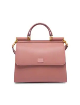 Large Sicily Leather Top Handle Bag by Dolce & Gabbana