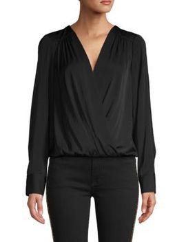 Faux Wrap Long Sleeve Bodysuit by Bcbgmaxazria