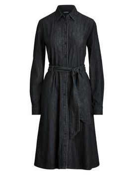 Belted Long Sleeve Shirtdress by Lauren Ralph Lauren